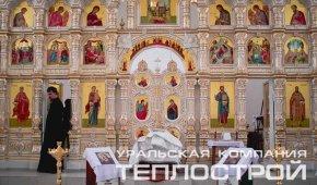 Первое Богослужение в построенном Храме