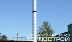 """Замена стальной дымовой трубы ОАО """"КУЗОЦМ""""."""